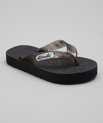 Black Slippa Flip-Flop - Kids