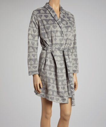 Gray Hearts Simply Sweet Robe - Women