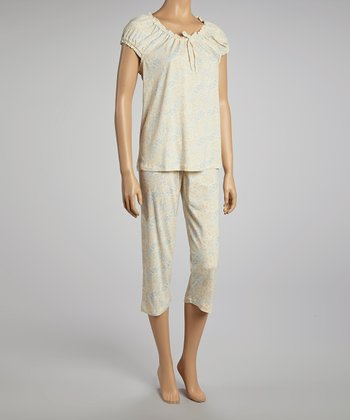 Cream Midnight Dreams Capri Pajamas - Women
