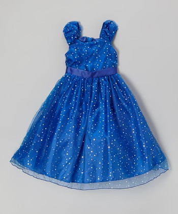 Royal Sequin Dress - Girls