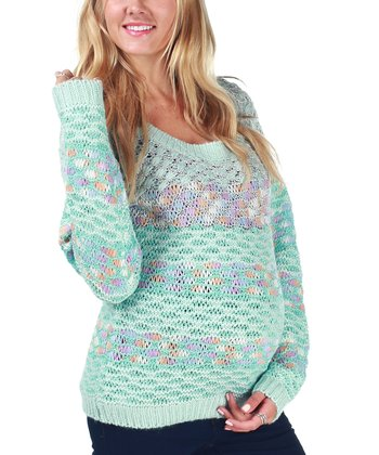 Blue Pastel Knit Maternity Sweater
