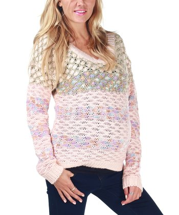 Pink Pastel Knit Maternity Sweater