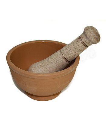 Terra-Cotta Mortar & Pestle