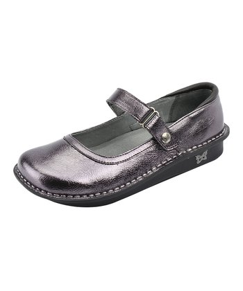 Pewter Crinkle Belle Mary Jane - Women