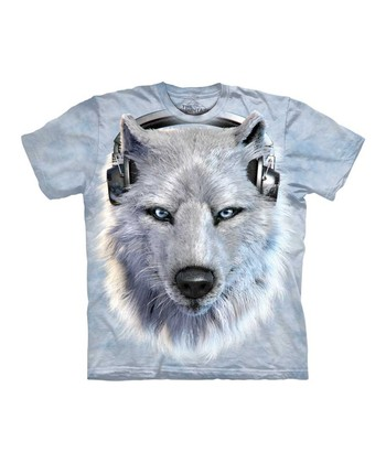 Light Gray Wolf DJ Tee - Toddler & Kids