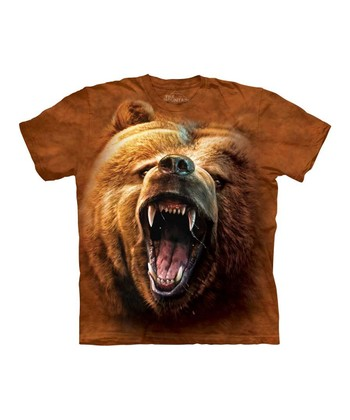 Brown Grizzly Growl Tee - Toddler & Kids