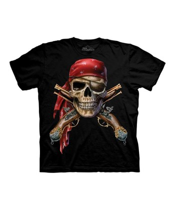 Black Skull & Crossbones Tee - Toddler & Kids
