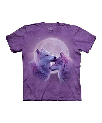Purple Loving Wolves Tee - Toddler & Kids