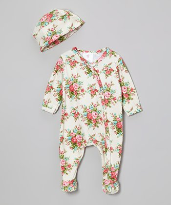 Pink Bouquet Footie & Beanie - Infant