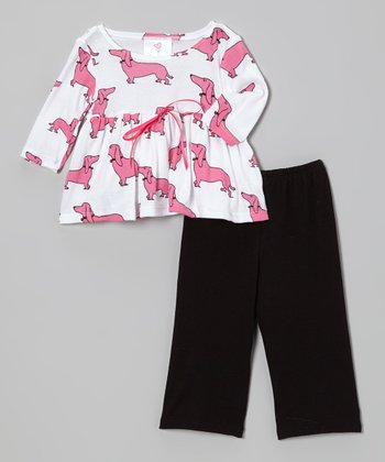 Pink Haute Dogs Tunic & Pants - Infant & Toddler