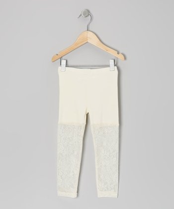 Ivory Lace Leggings - Toddler & Girls