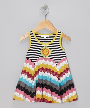 Black Stripe Swing Dress - Infant, Toddler & Girls