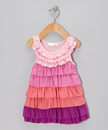 Hot Pink Ruffle Swing Dress - Infant, Toddler & Girls