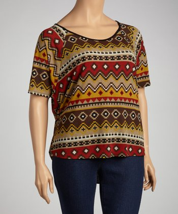 Rust Tribal Tunic - Plus