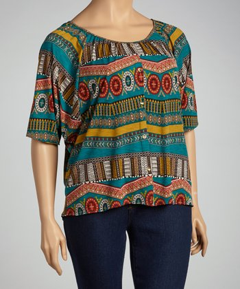 Teal Dolman Top - Plus