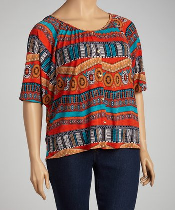 Orange Dolman Top - Plus