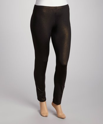 Gold Leggings - Plus