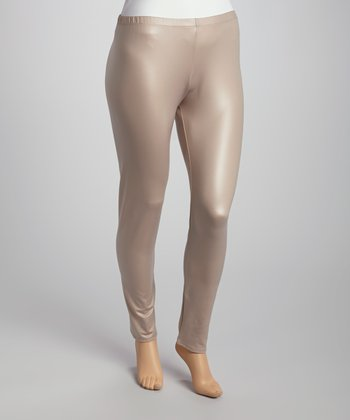 Taupe Leggings - Plus