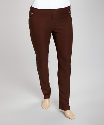 Brown Trouser Pants - Plus