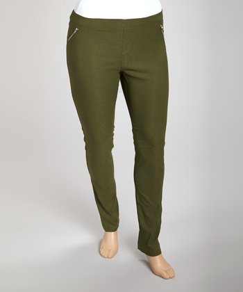 Green Trouser Pants - Plus