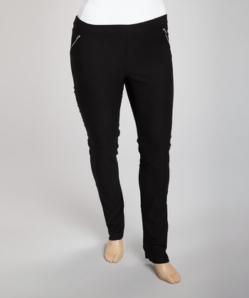 Black Trouser Pants - Plus