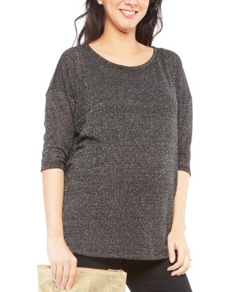 Gray Sparkle Lottie Maternity Sweater