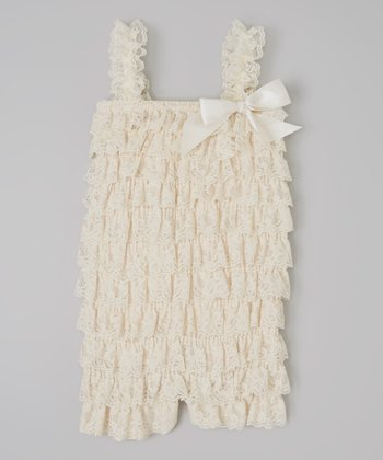 Cream Ruffle Romper - Infant & Toddler
