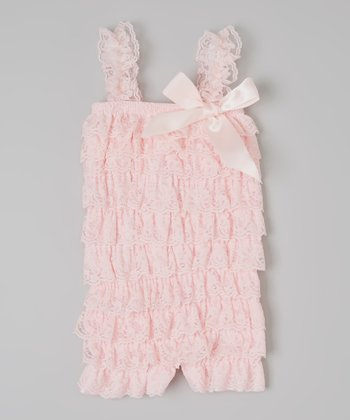 Light Pink Ruffle Romper - Infant & Toddler