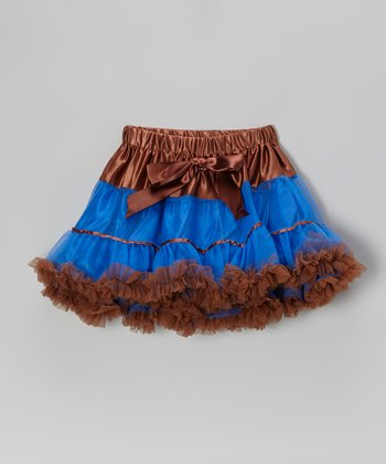 Royal Blue & Brown Pettiskirt - Infant & Toddler