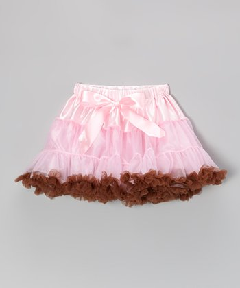 Brown & Pink Pettiskirt - Infant & Toddler