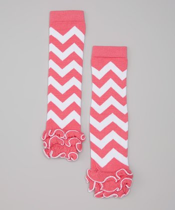 Hot Pink Zigzag Leg Warmers