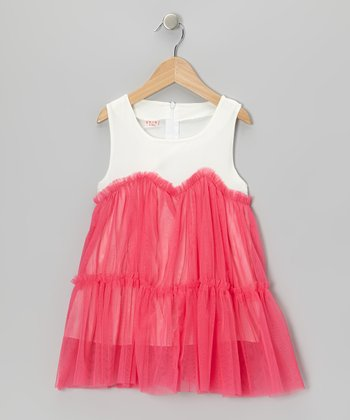 Strawberries & Crème Chiffon Ruffle Dress - Infant, Toddler & Girls