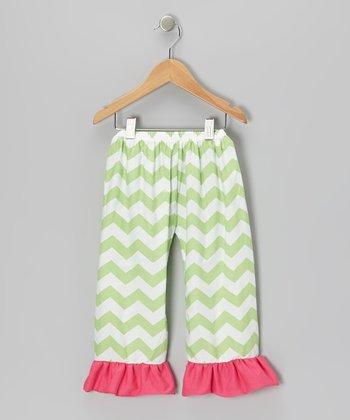 Hot Pink & Lime Ruffle Pants - Infant, Toddler & Girls