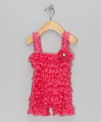 Hot Pink Vintage Lace Romper - Infant & Toddler