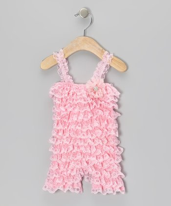 Pink Vintage Lace Romper - Infant & Toddler