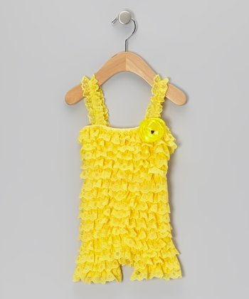 Yellow Vintage Lace Romper - Infant & Toddler