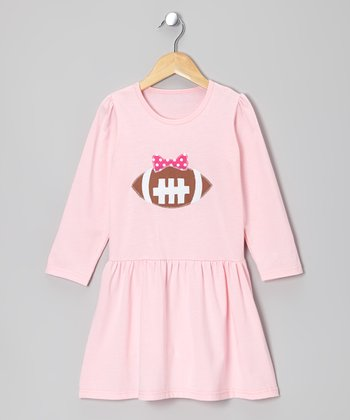 Pink Football Swing Dress - Infant, Toddler & Girls