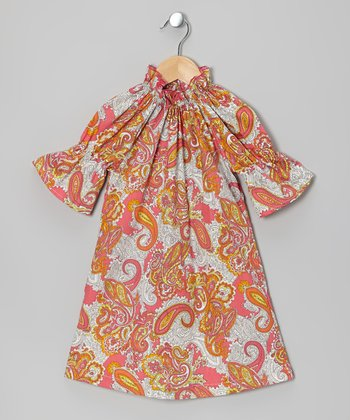 Hot Pink Paisley Peasant Dress - Infant, Toddler & Girls