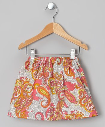 Hot Pink Paisley Skirt - Toddler & Girls