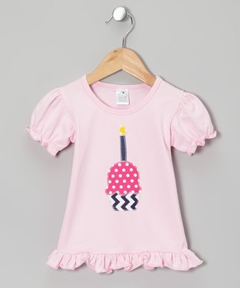 Light Pink Cupcake Ruffle Tee - Infant, toddler & Girls