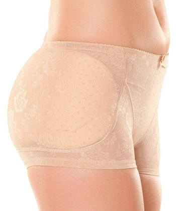Nude Bombshell Padded Shaper Boyshorts - Women & Plus