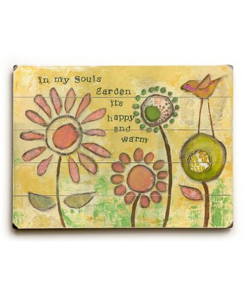 'In My Soul's Garden' Plaque