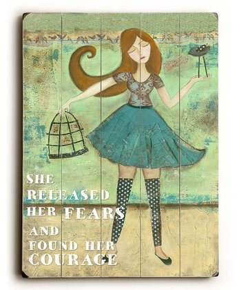 'She Released Her Fears' Plaque