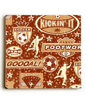 Artehouse Soccer Pattern Wall Art