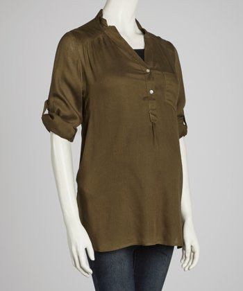 Olive Maternity Blouse - Women