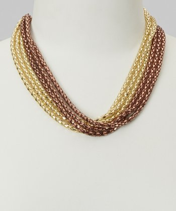 Gold & Rose Gold Snake Chain Necklace