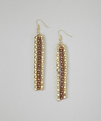 Gold & Rose Gold Snake Chain Earrings