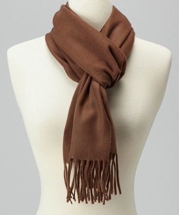 Coffee Cashmere Scarf