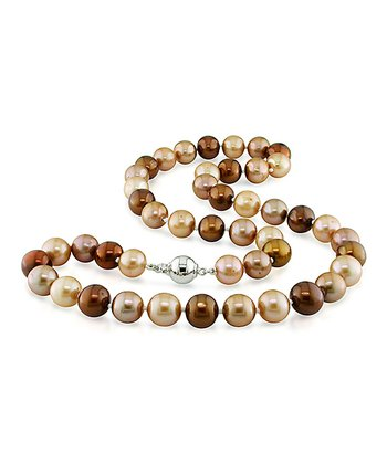 Brown & Gold Freshwater Pearl Necklace