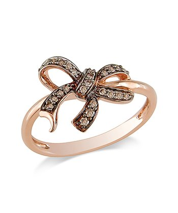Chocolate Diamond Bow Fashion Ring
